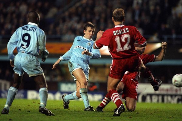 Leigh Jenkinson, Coventry City, Shoots against Liverpool