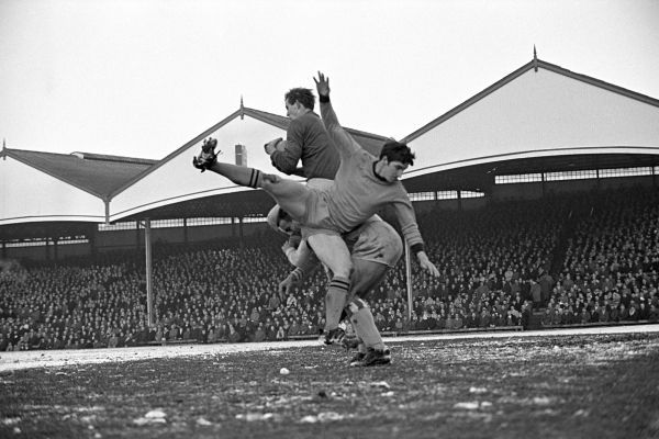 Coventry City goalkeeper Bill Glazier in action at Molyneux, home of Wolverhampton Wanderers