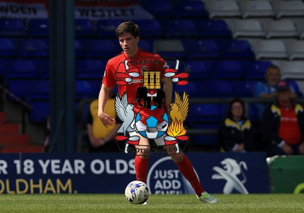 Coventry City's Cian Harries makes his first team debut
